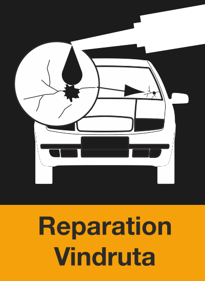 Här ser du en ikon över att BestDrive kan laga stenskott och reparera din vindruta.